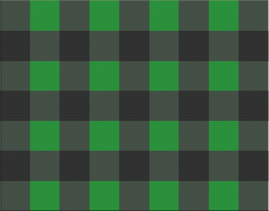 green and black flannel